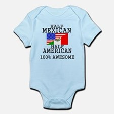 Half Mexican Half American Body Suit