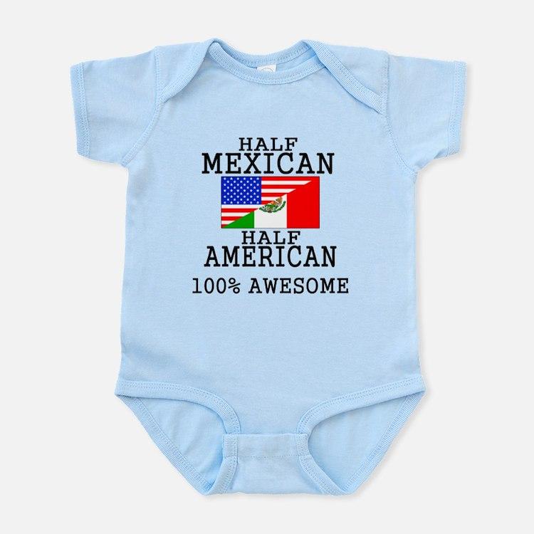Half Mexican Half American Body Suit