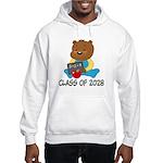 Class Of 2028 school bear Hooded Sweatshirt