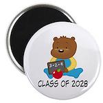Class Of 2028 school bear Magnet