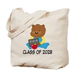 Class Of 2028 school bear Tote Bag
