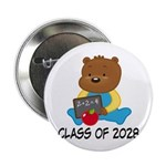 "Class Of 2028 school bear 2.25"" Button"