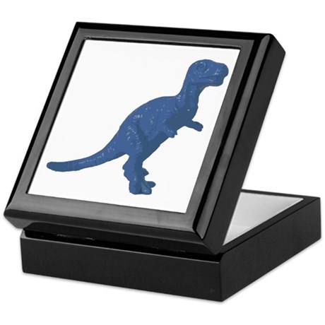 Blue Oldschool T.rex Keepsake Box