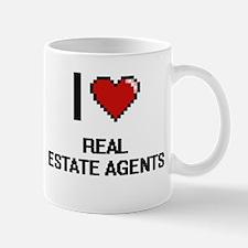 I Love Real Estate Agents Digital Design Mugs