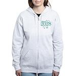 Class Of 2028 cute Women's Zip Hoodie
