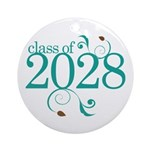 Class Of 2028 cute Round Ornament