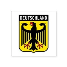 """Cute Germany coat arms Square Sticker 3"""" x 3"""""""