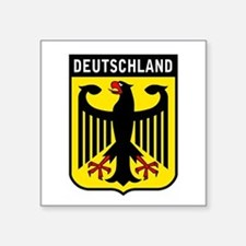 "Cute German Square Sticker 3"" x 3"""