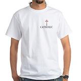 Catholic Mens Classic White T-Shirts
