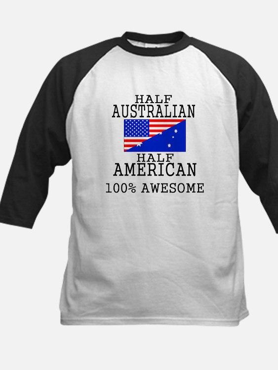 Half Australian Half American Baseball Jersey