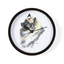 Keeshond #1 Wall Clock
