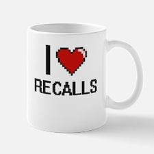I Love Recalls Digital Design Mugs
