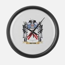 Moyer Coat of Arms - Family Crest Large Wall Clock