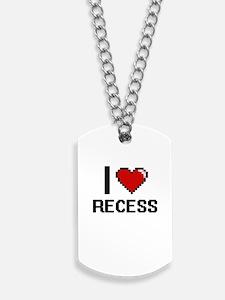 I Love Recess Digital Design Dog Tags