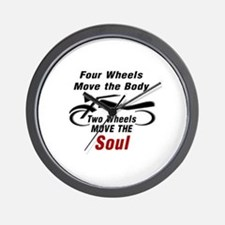MOTORCYCLE - FOUR WHEELS MOVE THE BODY, Wall Clock