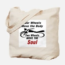 MOTORCYCLE - FOUR WHEELS MOVE THE BODY, 2 Tote Bag