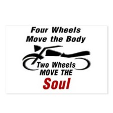 MOTORCYCLE - FOUR WHEELS Postcards (Package of 8)