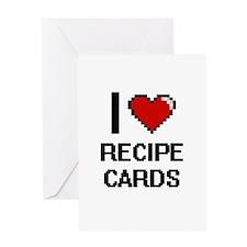 I Love Recipe Cards Digital Design Greeting Cards
