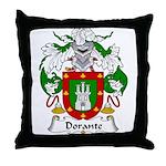 Dorante Family Crest Throw Pillow