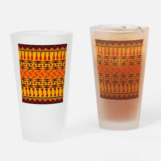 African Traditional Ornament Drinking Glass