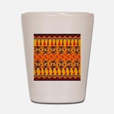 African Traditional Ornament Shot Glass