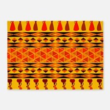 African Traditional Ornament 5'x7'Area Rug