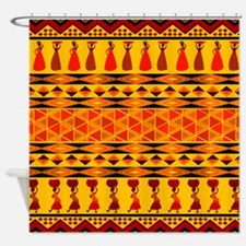 African Traditional Ornament Shower Curtain