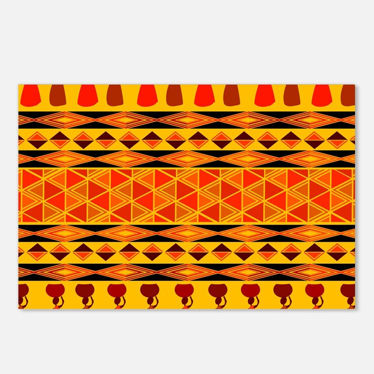 African Traditional Ornament Postcards (Package of