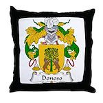 Donoso Family Crest Throw Pillow