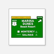 RV RESORTS -CALIFORNIA - MARINA DUNES - BE Sticker