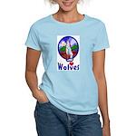 Wolf Women's Pink T-Shirt