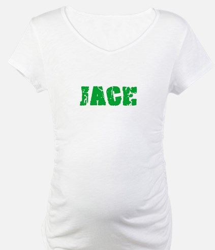 Jace Name Weathered Green Design Shirt