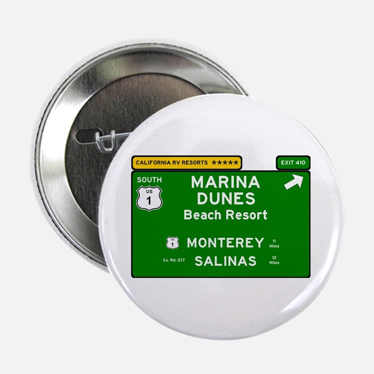"RV RESORTS -CALIFORNIA - MARINA DUNES 2.25"" Button"