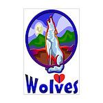 Wolf Mini Poster Print