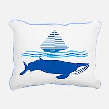Whale and Jonah Rectangular Canvas Pillow