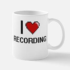I Love Recording Digital Design Mugs