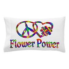 Peace Love Flower Power Pillow Case