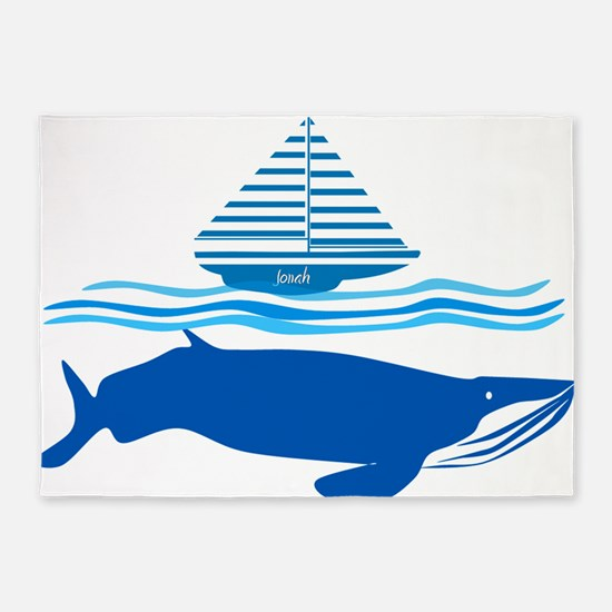 Whale and Jonah 5'x7'Area Rug