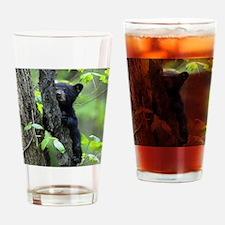Black Bear Cub Drinking Glass