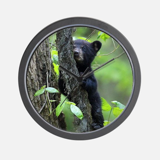 Black Bear Cub Wall Clock