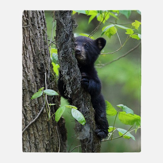 Black Bear Cub Throw Blanket