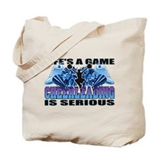 Lifes A Game Cheerleading Tote Bag