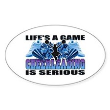 Lifes A Game Cheerleading Oval Decal