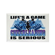 Lifes A Game Cheerleading Rectangle Magnet