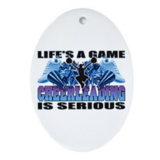 Lifes A Game Cheerleading Oval Ornament