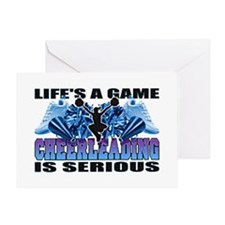 Lifes A Game Cheerleading Greeting Card