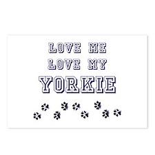 Love Me Love My Yorkie Postcards (Package of 8)