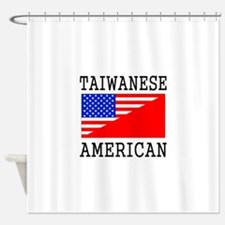 Taiwanese American Flag Shower Curtain