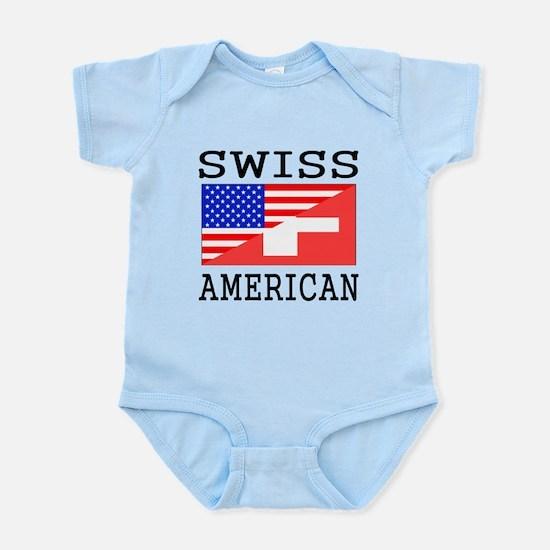 Swiss American Flag Body Suit