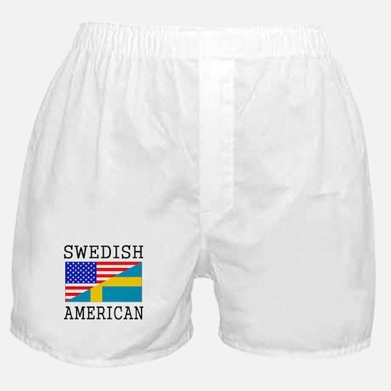 Swedish American Flag Boxer Shorts